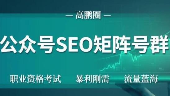 【公众号 SEO】高鹏圈公众号 SEO 矩阵号群,实操 20 天纯收益 25000+,普通人都能做